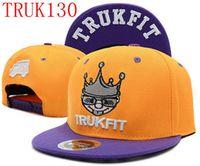 Wholesale Trukfit Camo Snapbacks - camo trukfit snapback hat custom skate MISFIT hats snapbacks snap back cap mixed men women caps color 110