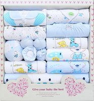 Wholesale Baby Suits Newborn Gift Set - new 2015 100% cotton newborn baby clothing sets 15pcs infants suit baby girls boys clothes Xmas gift
