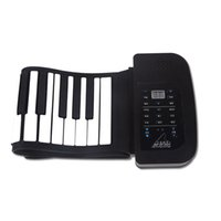 Wholesale Soft Keyboard Piano - Generic 61 Keys Flexible Roll Up Electronic Piano Soft Keyboard Portable Color Black