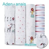 Wholesale Free Receiving Blankets - free ship Babies aden anais Bedding Quilts Newborn Supplies 100% Muslin Cotton Baby Receiving Blankets Cobertor Infantil Soft Wrap