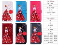 Мода Sexy Girl Lady Одуванчик кожаный чехол Кошелек для iphone X / 8/7 / Plus / 6 6S / SE 5 5S Bling Glitter Dress Flip Cover ID Card Slot Pouch