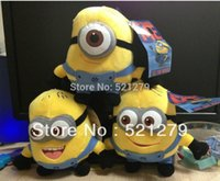 Wholesale Despicable Plush 7inch - Free shipping 3pcs lot 7inch Despicable Me Minions Plush Toys Doll with 3D Eye