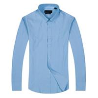 yeni pamuklu elbiseler stilleri toptan satış-Yeni stil hediye Moda Lüks Erkekler Gömlek Uzun Kollu Erkek Gömlekler Adam Pamuk Gömlek Slim Fit Gömlek polo Yüksek kalite Chemise Homme