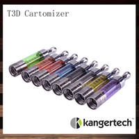 Wholesale Cartomizer Metal - Kanger T3D Clear Cartomizer Kangertech T3D Colorful Clearomizer With Changeable Rebuidable Dual Coils
