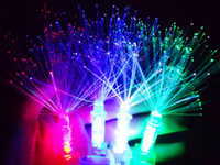Wholesale Optical Light Glow Party - Best Price Optical Fiber LED Bright Finger Ring Lights Rave Party Glow Kids Toys Christmas Gifts