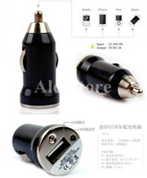 Wholesale E Car Charger - Colorful Bullet Mini USB Car Charger Universal Micro Adapter for Cell Phone PDA MP3 player mobile ego battery e cig ecig e-cig e-cigarette