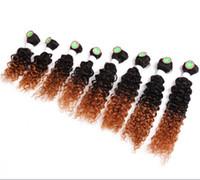 Wholesale kinky curl hair ombre for sale - Kadoyee Human Virgin Hair Extensions Kinky Jerry Curl Hair Weaves Bundles Black b Bug b b Ombre Color Hair Bundles