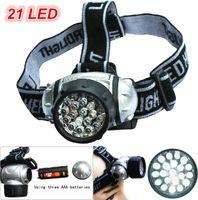 Wholesale Best Headlamps - Waterproof 21 Led Headlamp Light Outdoor Hiking Headlamps LED Headlight Camping Lights Fishing Headlights Flashlight Best Portable Lighting