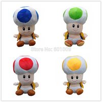 "Wholesale Toad Doll - Free Shipping 4PCS TOAD 6.5"" New Super Mario Bros. Plush Doll Stuffed Toy"