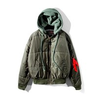 Wholesale Oversize Clothing - Wholesale Fashion Oversize chic vetements bomber jacket MA-1 men Hooded Jacket padded cotton clothes on both sides of flight Hooded Jacket