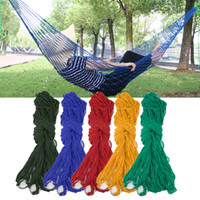 Corde Nylon-Mesh Wholesale Voyages en plein air Camping Hammock Hanging Sleeping Bed livraison gratuite
