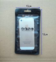 Wholesale Hard Plastic Case S2 - 18* 10 Alum Black Zipper Plastic Retail Package Packing bags Pouch for iphone 3 4 4G 4S 5 5S S2 hard Soft Case cover packaging bag