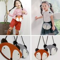 Wholesale Girl Cartoon Hot Fox - 2016 Baby Cute Fox Bag Hot Fox purse Handbag Wallet 12*13 CM Children Girls Fashion Cartoon One-side Non-woven Bags B3998