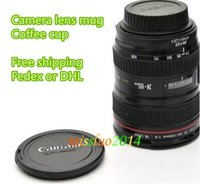 Wholesale Cpam Coffee Camera Lens - Fedex Free shipping Wholesale CPAM Coffee camera lens mug cup Caniam logo Drop CUP01