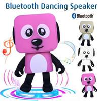 Wholesale Party Robots - Portable Wireless Speaker Cute Bluetooth Speaker Dance Robot Dog Bluetooth Wireless Smart Dance Robot Dog Electronic Toys CCA8368 100pcs