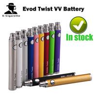 ego x6 vv batería al por mayor-Batería de voltaje variable Evod Twist 650mAh / 900mah / 1100mah Vs Ego-C Twist EGO-Q UGO-P batería Nego Twist eGo-T X6 VV EGO II K Fire