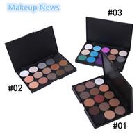 камуфляжная глазная палитра оптовых-Wholesale- 1pcs colors Arrival Professional  Quality 15 Color Eyeshadow Palette Natural Matte Shimmer Eye shadow make up camouflage