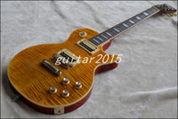 Wholesale Electric Guitar Amber - chinese Signature guitar - Custom Appetite Amber color Rosewood fingerboard electric one wood body and one wood neck guitar free shipping