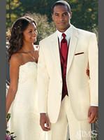 Wholesale Men Jacket Navy Casual - 2016 Mens Suit Vest Fashion Casual Mens Wedding Vest Tuxedos Grooms Men Mens Suits Traje de Novio Azul Men Wedding Suits (Jacket+Pants+Vest)