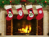 Wholesale Christmas Ornaments For Garden - New 2015 Christmas stockings Elderly snowflake snowman socks Suitable for loading candy apple Christmas decorations Home & Garden Festive