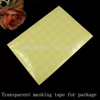 Wholesale Box Packing Tape - Wholesale-New 19*19mm Single Sided Tape PVC Transparent Film Adhesive Sticker For Retail Package Box Iphone Cases Packing Sealing Stickers