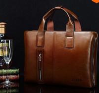 Wholesale Black Portfolio - ZEFER genuine leather bag male briefcase portfolio,men messenger bags business handbag shoulder bag fashion men's travel bags