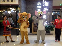 Wholesale Mouse Jerry Costume - Wholesale-mascot costumes catoon clothes cat and mouse jerry tom kongfu panda