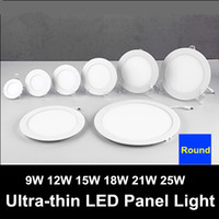 Wholesale Downlight Spotlight Fixture - CSA SAA UL + LED Ultra-thin Round 9W 12W 15W 18W 21W 25W LED Panel Lights Downlight Spotlight Fixture Recessed Ceiling Down Lights