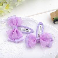 Wholesale Kid Butterfly Barrettes - Butterfly clamp hair clip Children's kids baby headband barrettes Hair Accessories wholesale Factory direct sales 24pcs lot