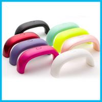 mini câble usb achat en gros de-Mini Rainbow Nail Art Lampe 9 W 3 pcs LED Lumière Pont En Forme de Mini Curing Nail Sèche Nail Art Lampe Soins Machine pour UV Gel USB Câble