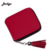 Al por mayor- Nuevo Diseño Pequeño Slim Women Cartera roja Thin Zipper Ladies Monedero de cuero de LA PU Monedero femenino Mini embrague Cheap Womens Wallets