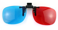 Wholesale 3d clip glasses d glasses set stereoscopic movie glasses red and blue glasses