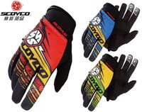 Wholesale Motorcycle Race Games - 2016 New SCOYCO Motocross gloves Athletic motorcycle gloves professional game skid racing equipment MX51 3 colors 3 size
