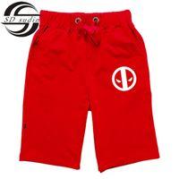 Wholesale Cotton Trousers Shorts For Men - Wholesale-Deadpool Hip Hop Sport Shorts Men Casual Loose Sandy beach Shorts Male Jogger Trousers Cotton Sweatpants For Mens Gym SDQ15