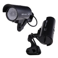 Wholesale Security Cam Dummy - Hot Sale Free shipping Outdoor Indoor Fake Surveillance Security Dummy Camera Night CAM LED Light