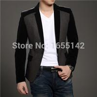 Wholesale Cheap Men S Blazer Jackets - Wholesale-New Blazer Men Latest Coat Designs Suits For Men Wedding Dress Suit Jacket Men Cheap Mens Blazers Blazer Designs Nice Blazer B21