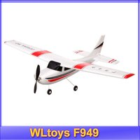 Wholesale Cessna Rc Rtf - Wholesale-Wltoys F949 rc airplane Cessna-182 2.4G remote control toys 3CH Fixed Wing Plane Electric flying Aircraft RTF beyond F939 F929
