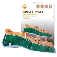Wholesale Wall Papers China - 3D puzzle world famous buildings Great Wall of China 3d puzzle paper children creative toys for adults kids birthday kids gift