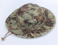 Wholesale Fitted Tactical Hats - Tactical Mandrake Boonie Kryptek Pattern US Army Rip-stop Caps Hats for Camping Hiking Hunting Rattlesnake Combat Airsoft Fishing