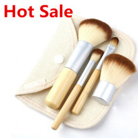 Wholesale Thin Makeup Bag - Makeup Brushes Make up Brushes 4pcs Professional Cosmetic Brush Kit Thin Fiber Batt Sack Bag Package Eyeshadow Foundation Shade Tools