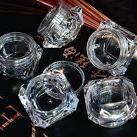 ingrosso vasi acrilici cosmetici-10pcs 5g (5 ml, 0.17 oz) Clear Diamond vuoto contenitore acrilico bottiglia di trucco per cosmetici crema gioielli vaso vuoto vaso ombretto