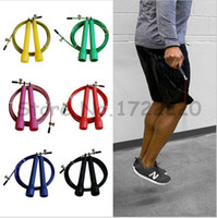 Wholesale Crossfit Speed Ropes Wholesale - MOQ 30 pcs crossfit Ultra adjustable Speed Cable Jump Ropes,steel wire