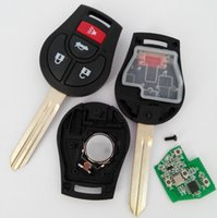 Wholesale Keyless Remote Prices - Best price car key remote keyless entry fob for Nissan 3+1 button remote key with 315MHZ 2PCS LOT free shipping