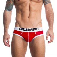 Wholesale Comfortable Sexy Sleepwear - Men Red Cotton Underwear Briefs Health Sexy Shorts Gay Sleepwear Man Pants PUMP! Sweat Quick Drying Crotch Breathable Comfortable