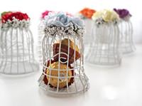 мм шоколад оптовых-Свободный DHL 85 * 85 * 45 (мм) подарок колокол свадьба коробка, белая железная подарочная коробка, с белой цепью, душа ребенка благодеяниями, шоколад мило коробки 1203 # 03