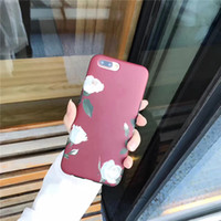 2017 Red Rose Cute Cartoon Hot Selling Slim Phone Cases para IPhone X 5 5S 6 7 PC Case Phone Back Cover Dot Shockproof