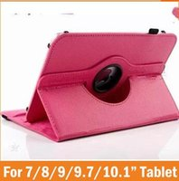 Wholesale q88 4.4 tablet online - Universal rotating case cover skin shell for inch tablet MID Q88 A13 Galaxy tab T230 T530 ipad mini air Stand
