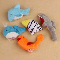 Wholesale Amazing Babies Doll - Wholesale-Amazing 10Pcs Lovely Soft Cartoon Ocean Animal Fish Finger Puppet Baby Girl Boy Finger Doll Toys Nov 18