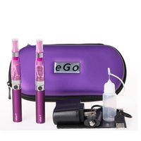 elektronik sigara çift toptan satış-Ego t çift marş elektronik sigara Ego CE4 marş Kiti ecig e çiğ pil elektronik Sigara ce4 ego t buharlaştırıcı kalem zipple vaka