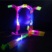 Wholesale Helicopter Party Decorations - LED Amazing Arrow Helicopter Slingshot Toy,Flying Night Toy